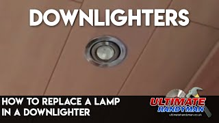 How to replace a lamp in a downlighter