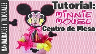Centro De Mesa De Minnie Mouse (TUTORIAL) Ideas Para