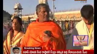 Actor Tanikella Bharani Visits Tirumala|Celebrities At Tirumala|Mahaa