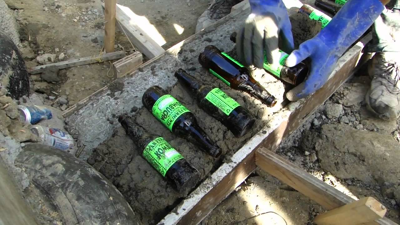 How To Build A Bottle Wall Youtube