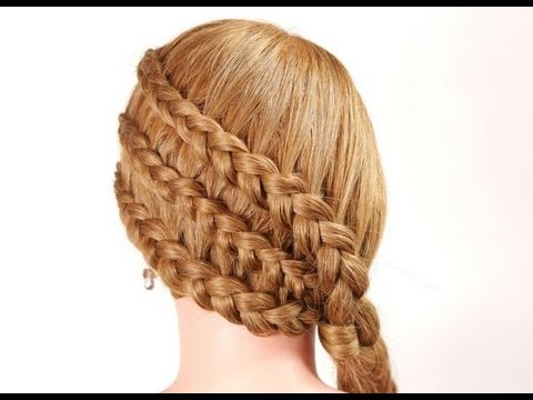 Braided hairstyle for long hair. Hairstyles for every day - YouTube