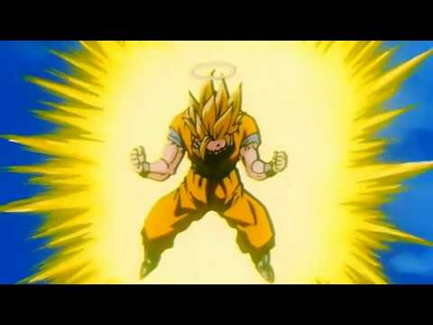 Goku goes Super Saiyan 3 remastered HD (1080p)