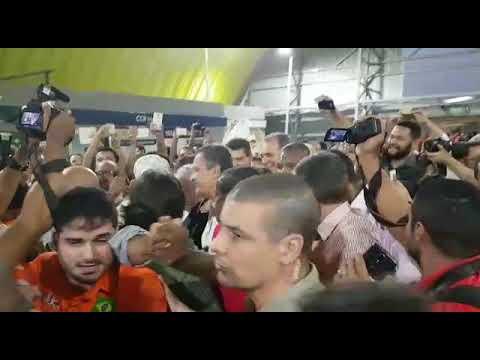 Chegada de Lula para evento na Fonte Nova