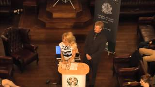 Pamela Anderson at the Cambridge Union Society