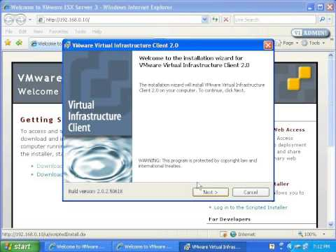 How To Connect To VMWare ESX Server Access VMWare Virtual Center 3.x (VI3)
