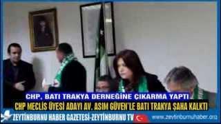 CHP Zeytinburnu Belediye Başkan Adayı Mimar Mustafa Fazlıoğlu Batı Trakya Derneğinde
