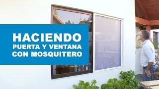 Cómo hacer una puerta y ventana con mosquitero