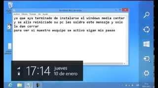 Activar Windows 8 Pro Con Media Center Full ( 2013 ) Nuevo