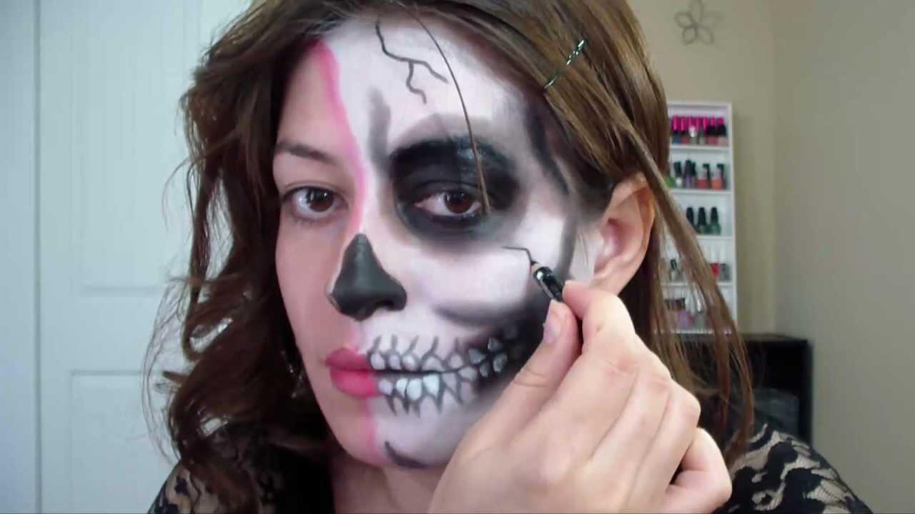 Half Skull Makeup Tumblr