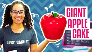 How To Make A GIANT APPLE Out Of CAKE For Back-To-School Season | Yolanda Gampp | How To Cake It