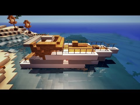 minecraft tutoriel petit bateau de luxe yacht hors. Black Bedroom Furniture Sets. Home Design Ideas