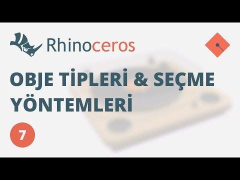Yakın Kampüs – Rhinoceros 4 Ders 7 – Obje Tipleri ve Seçme Yöntemleri