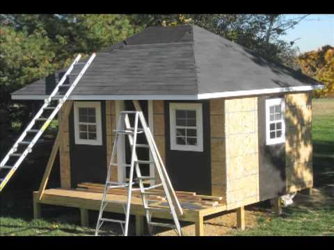 Custom Made Shed Or Playhose With Columns And Hip Roof