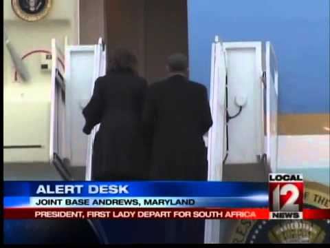 President and First Lady Depart for South Africa