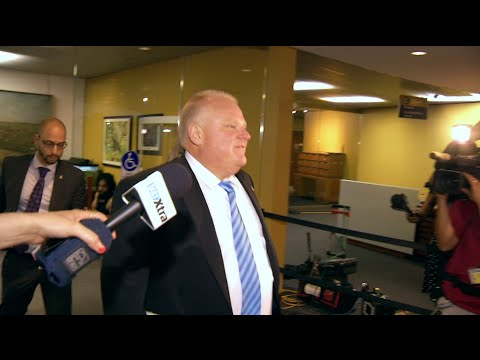 Toronto Mayor Rob Ford is back at City Hall- and city councillor gets called