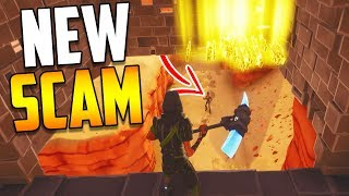 *NEW SCAM* The Disappearing Trap Scam BEWARE! Scammer Gets Scammed in Fortnite Save The World