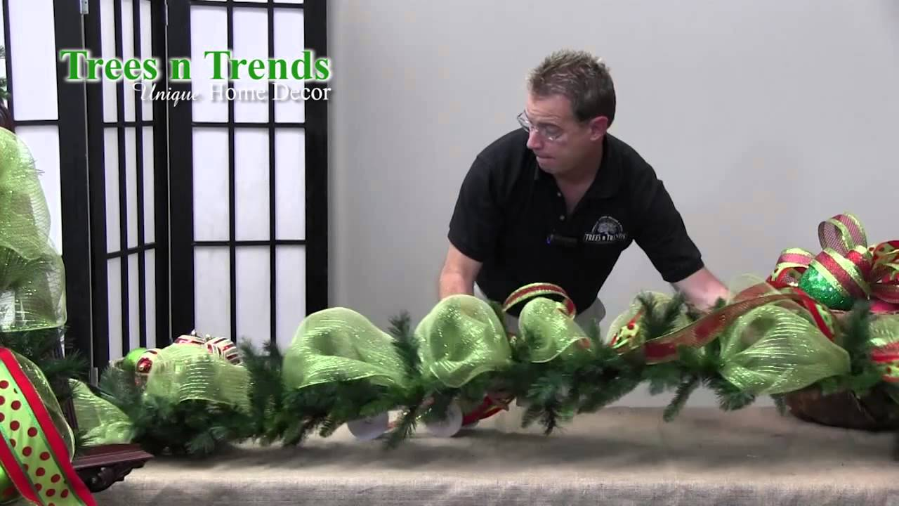 How to decorate a garland for christmas trees n trends unique home decor youtube Christmas home decoration youtube
