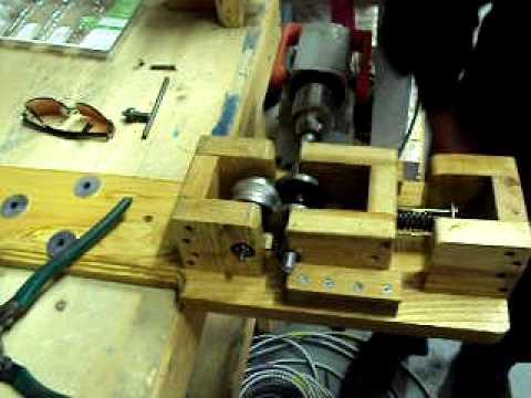 drill powered wire stripping machine