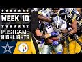 Cowboys vs. Steelers | NFL Week 10 Game Highlights