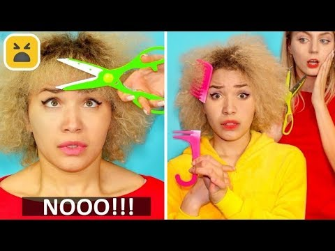 PROBLEM GIRLS WITH CURLY HAIR | Funny Facts! Girl DIY Hacks