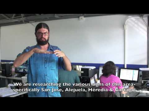 DDW vlog 9/11/2012 - Costa Rican Sign Language Dictionary