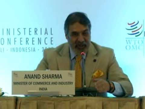 Sh Anand Sharma speaking at the Press Conference at WTO Ministerial Conference, Bali-Part 2