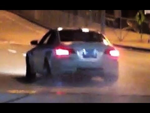 Widebody BMW M3 Drifts Into Red Light - SICK!