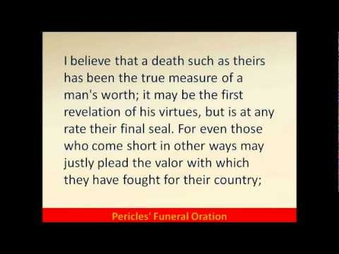 pericles funeral oration summary