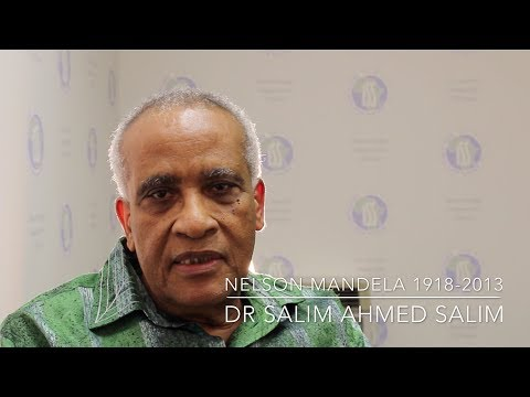 Dr Salim Ahmed Salim bids farewell to Madiba