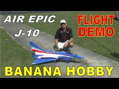 Banana Hobby / AIR EPIC J-10 Flight Demonstration Sneak Peak by: RCINFORMER