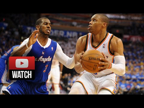Chris Paul vs Russell Westbrook Full Duel Highlights 2014 West Semis G1 - Clippers at Thunder