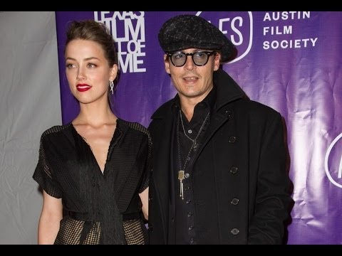 Johnny Depp (2014) Supports Amber Heard at the Texas Film Awards