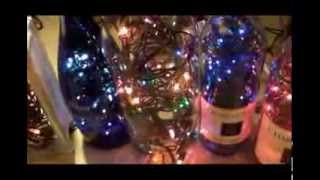 DIY How To Make Your Own Beautiful Lighted Wine Bottles