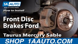 How To Install Replace Front Disc Brakes Ford Taurus