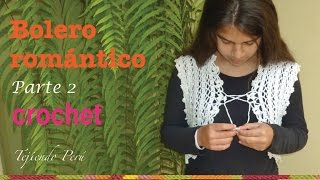 Bolero Romántico Para Damas Tejido A Crochet De