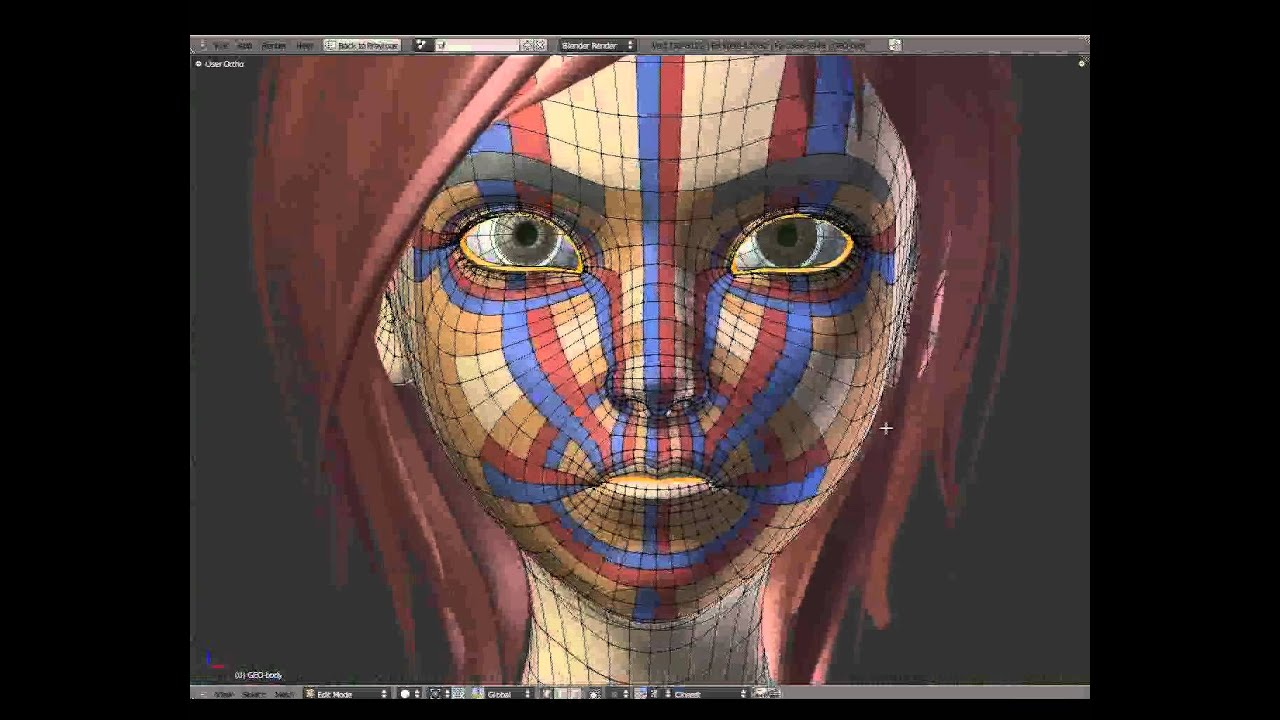 Blender Character Modeling Dvd : Facial intro topology sintel youtube