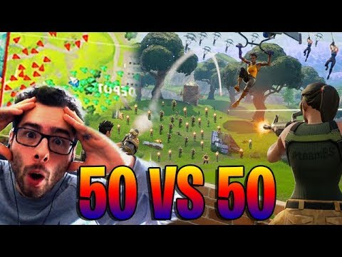 ON TESTE LE NOUVEAU MODE FORTNITE ! 50V50 EPIQUE !