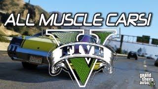 GTA V All Muscle Cars-RARE Custum Rides (GTA 5)
