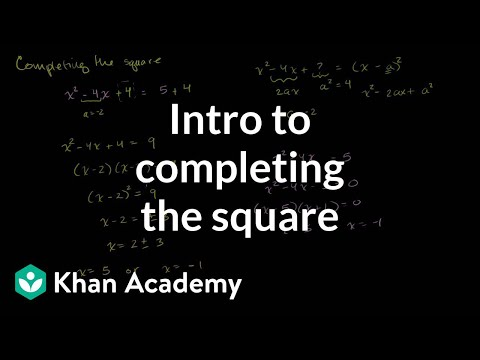 Solving the Quadratic Equations by Completing the Square