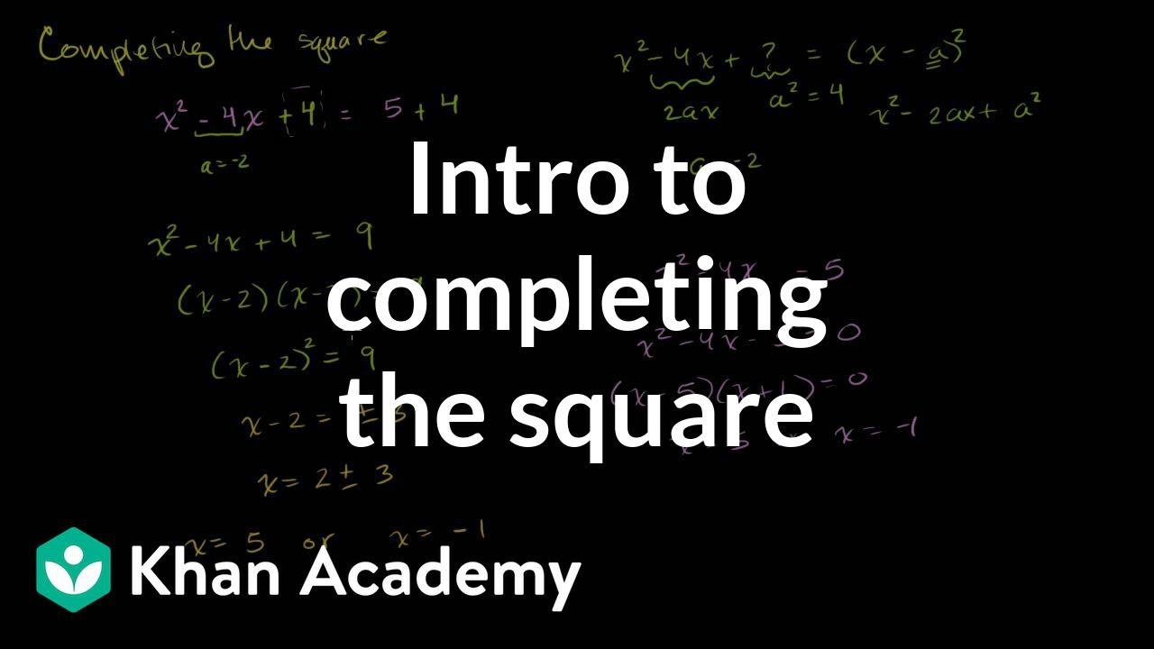 Solving Quadratic Equations Bypleting The Square