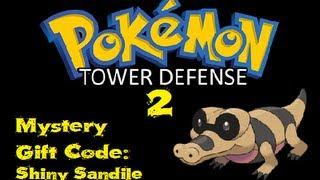 Pokemon Tower Defense 2 Mystery Gift Code Shiny