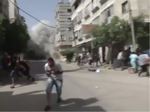 Moment of Impact: Israeli airstrike creates chaos in southern Gaza