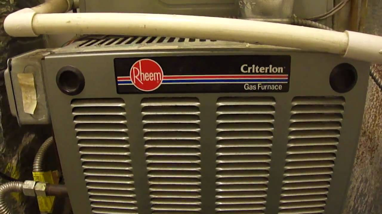 Rheem Criterion High Efficiency Furnace Central A C YouTube