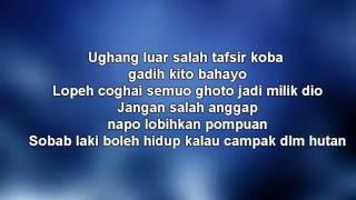 W A R I S Ft Dato Hattan Gadis Jolobu Lyrics Video