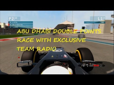 F1 ABU DHABI DOUBLE POINTS RACE WITH EXCLUSIVE TEAM RADIO
