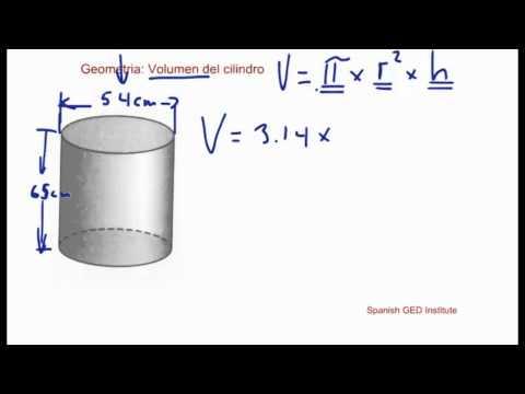 CURSO GED EN ESPAÑOL Geometria  volumen del cilindro