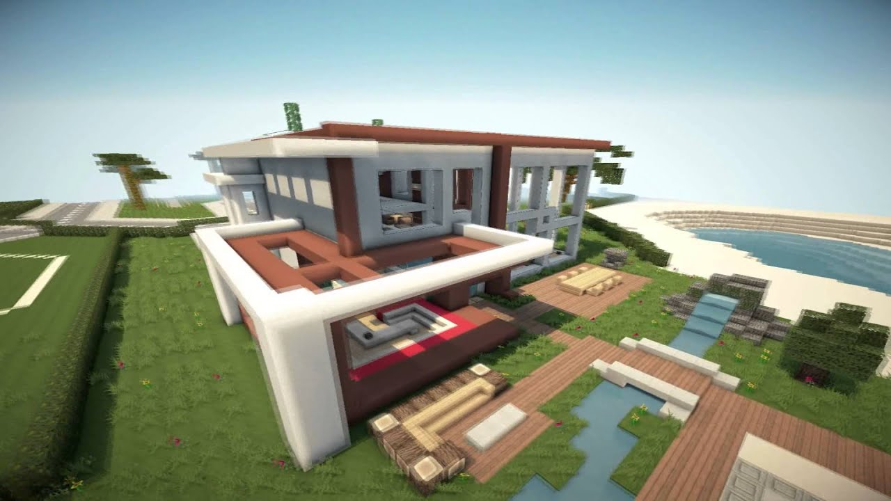 minecraft modern house 6 modernes haus hd youtube