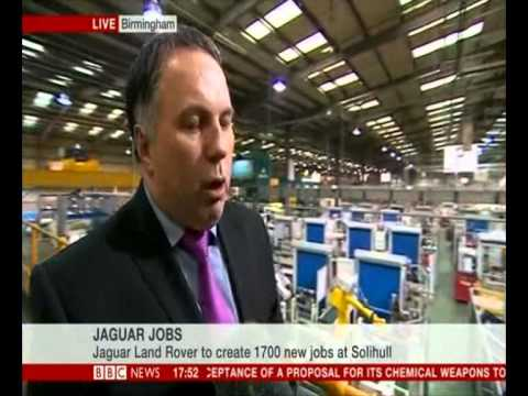 Steve Morley discusses latest JLR investment with BBC News - 10th September 2013