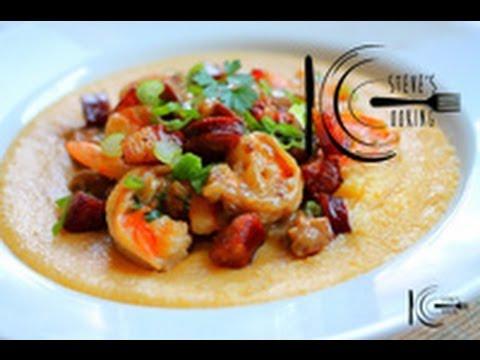 Shrimp and Pancetta over Soft Polenta recipe (stevescooking)
