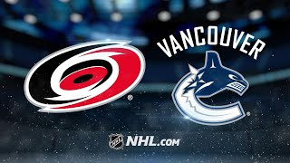 Markstrom, Pouliot lead Canucks past Hurricanes, 3-0
